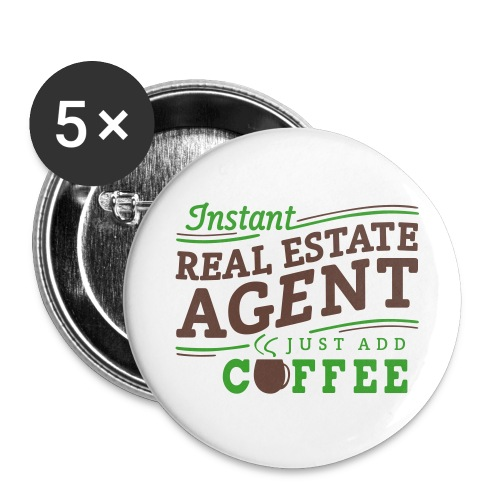 Instant Agent - Just Add Coffee 2.25 pins - Large Buttons
