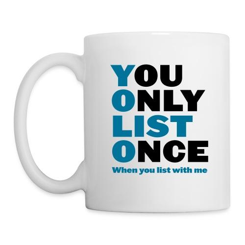 You Only List Once mug right - Coffee/Tea Mug