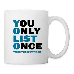 You Only List Once mug left - Coffee/Tea Mug