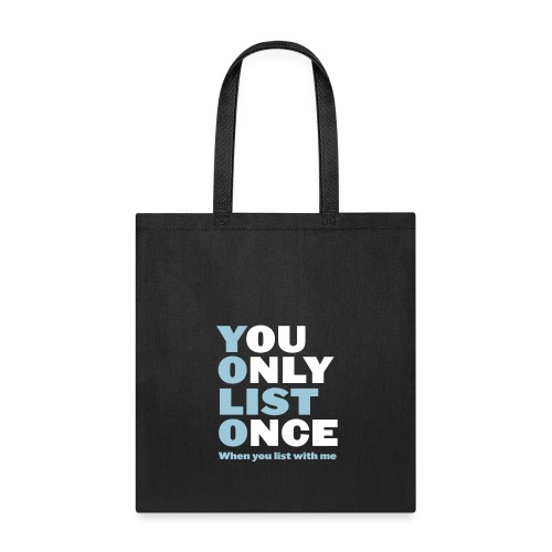 You Only List Once tote blue - Tote Bag