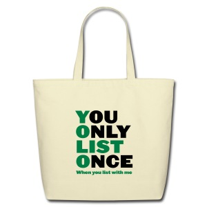 You Only List Once cotton tote - Eco-Friendly Cotton Tote