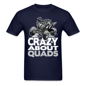 Crazy About Quads Grey - Men's T-Shirt