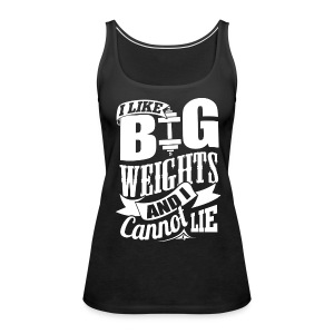 Big Weights Funny Gym - Women's Premium Tank Top