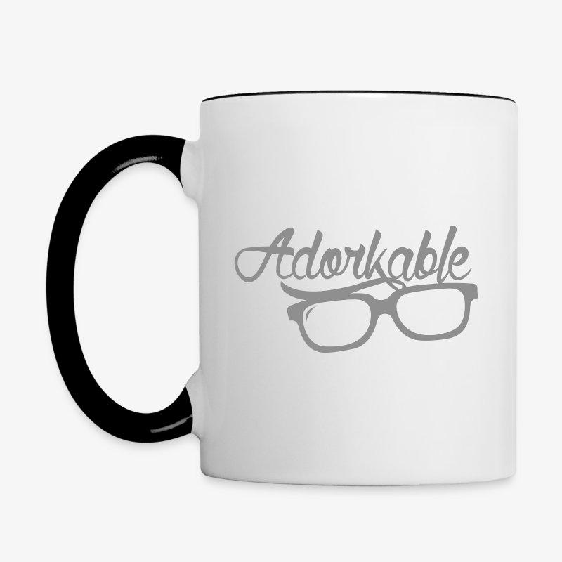 Adorkable - Contrast Coffee Mug