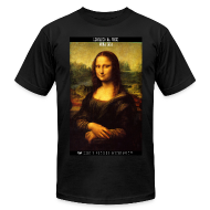 T-Shirts ~ Men's T-Shirt by American Apparel ~ The Mona Lisa by Leonardo da Vinci: 45SURF Hero's Odyssey Mythology