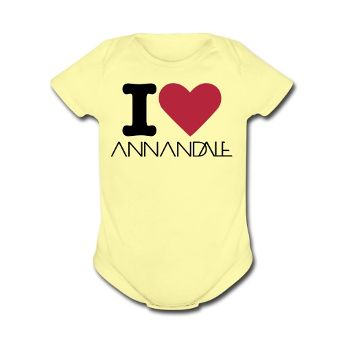 I  - Organic Short Sleeve Baby Bodysuit
