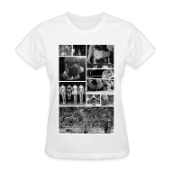 Women's T-Shirts ~ Women's T-Shirt ~ Pro Wrestling Is Art   Joshi Collage
