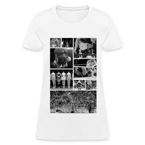 Pro Wrestling Is Art   Joshi Collage - Women's T-Shirt
