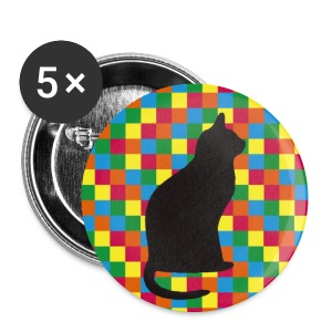 The mysterious cat Large Buttons - Large Buttons
