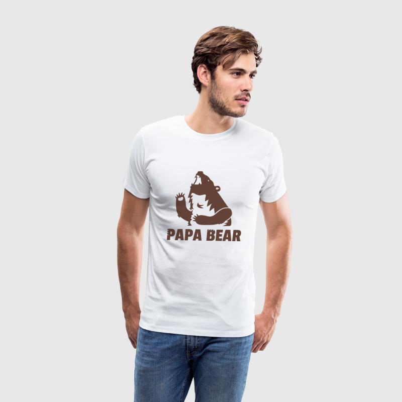 fierce papa bear daddy T-Shirts - Men's Premium T-Shirt