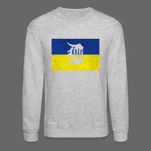 Detroit Ukraine Flag D - Crewneck Sweatshirt