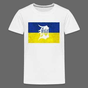 Detroit Ukraine Flag D - Kids' Premium T-Shirt