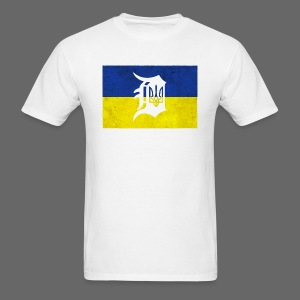 Detroit Ukraine Flag D - Men's T-Shirt
