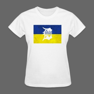 Detroit Ukraine Flag D - Women's T-Shirt