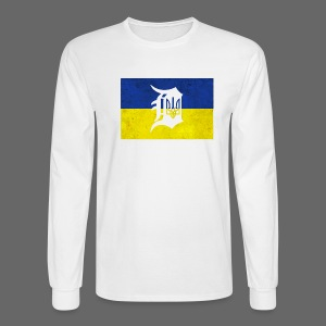 Detroit Ukraine Flag D - Men's Long Sleeve T-Shirt