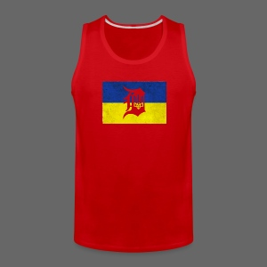 Detroit Ukraine Flag D - Men's Premium Tank