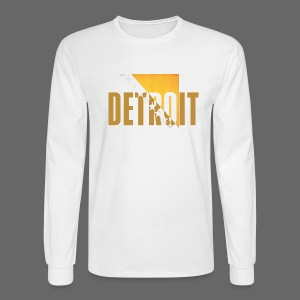 Detoit Bosnian Flag - Men's Long Sleeve T-Shirt