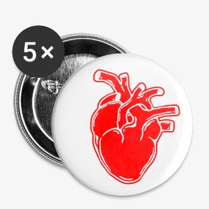 Bloody Heart - Large Buttons