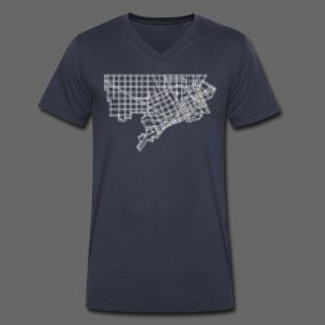 Detroit Street Map - Men's V-Neck T-Shirt by Canvas