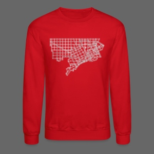 Detroit Street Map - Crewneck Sweatshirt