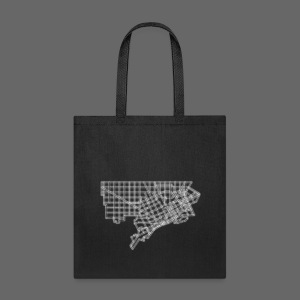 Detroit Street Map - Tote Bag