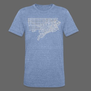Detroit Street Map - Unisex Tri-Blend T-Shirt by American Apparel