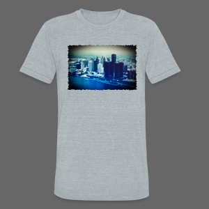 Downtown Watercolor - Unisex Tri-Blend T-Shirt by American Apparel
