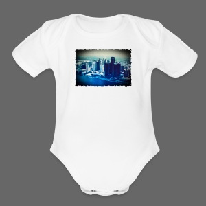 Downtown Watercolor - Short Sleeve Baby Bodysuit