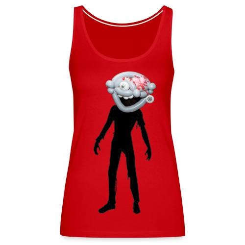 Zombie balloon head w/silhouette ladies T - Women's Premium Tank Top