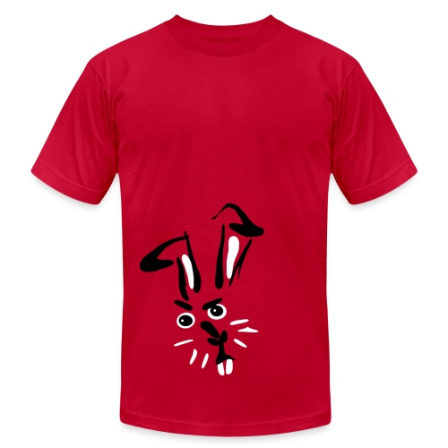 disapproval bunny - Men's T-Shirt by American Apparel