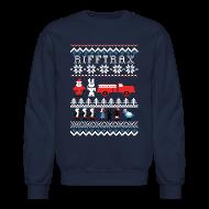 Long Sleeve Shirts ~ Crewneck Sweatshirt ~ Men's Ice Cream Bunny Ugly Sweater
