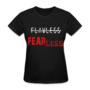 FEARLESS- Black & Red - Women's T-Shirt
