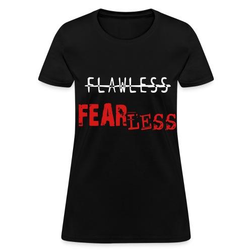 FEARLESS- Black & Red - Women's T-Shirt