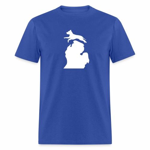 Pitbull Bark Michigan men's shirt - Men's T-Shirt