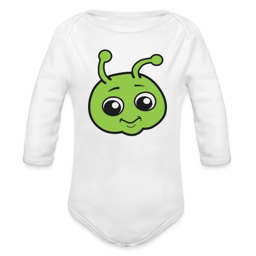 Baby's Cute Bug Onesie - Organic Long Sleeve Baby Bodysuit