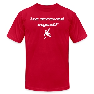 Ice screwed myself - Men's T-Shirt by American Apparel