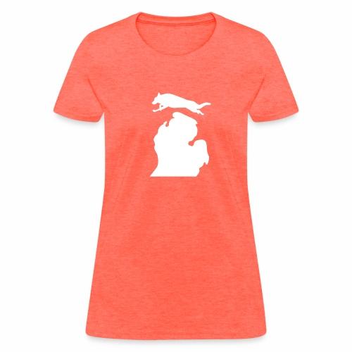 German Shepherd  Bark Michigan  womens shirt - Women's T-Shirt