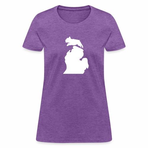 French Bulldog  Bark Michigan womens shirt - Women's T-Shirt