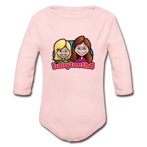 Babyteeth4 baby onesy - Long Sleeve Baby Bodysuit