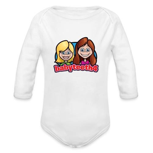 Babyteeth4 baby onesy - Organic Long Sleeve Baby Bodysuit