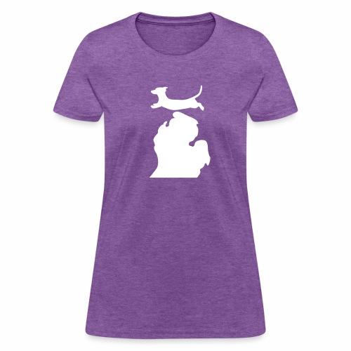 Dachshund  Bark Michigan  womens shirt - Women's T-Shirt