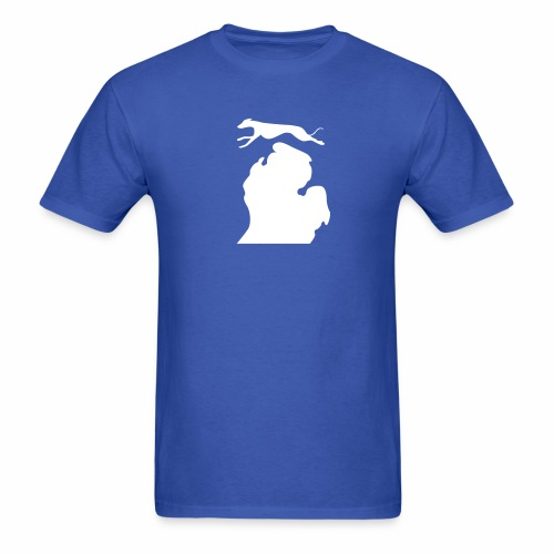 Greyhound Bark Michigan mens shirt - Men's T-Shirt