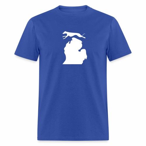 Greyhound Bark Michigan mens shirt - Men's T-Shirt