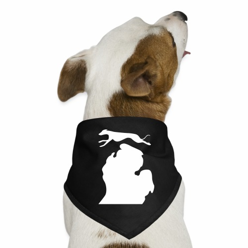 Greyhound Bark Michigan dog bandanna - Dog Bandana