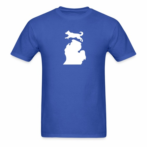 Husky Bark Michigan shirt mens  - Men's T-Shirt