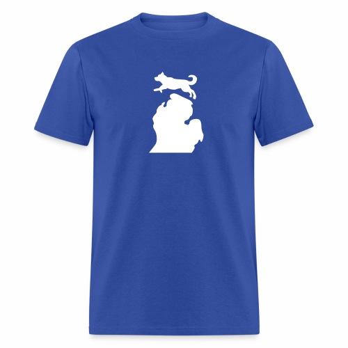 Husky Bark Michigan shirt mens  - Men's T-Shirt