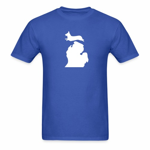 Corgi Bark Michigan shirt mens - Men's T-Shirt