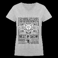 T-Shirts ~ Women's V-Neck T-Shirt ~ Women's Australian Shepherd 'Best in Show' T Shirt