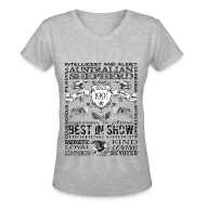 T-Shirts ~ Women's V-Neck T-Shirt ~ Women's Australian Shepherd 'Best in Show' T Shirt