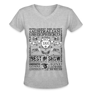 Women's Australian Shepherd 'Best in Show' T Shirt - Women's V-Neck T-Shirt